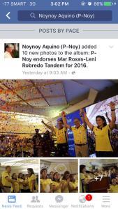 facebook page with LO