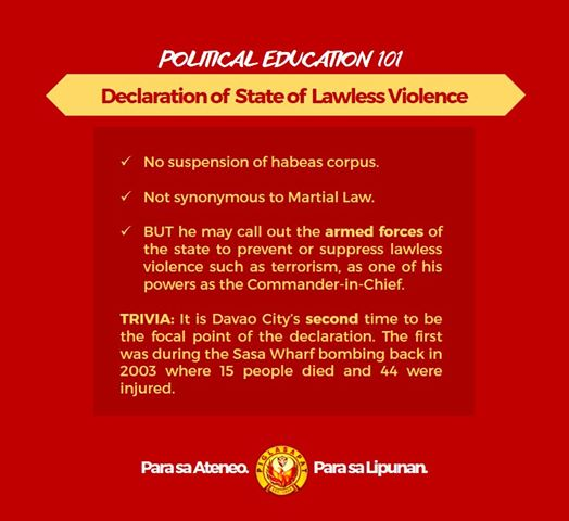 declaration of state of lawlessness