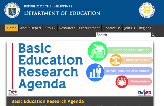 Image from www.deped.gov.ph. Some rights reserved.