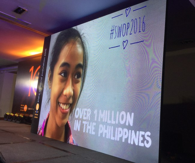 Over 1 million of these 10-year old girls are in the Philippines.