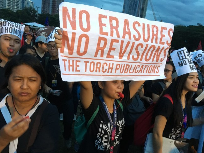 """""""No erasures, no revisions"""""""