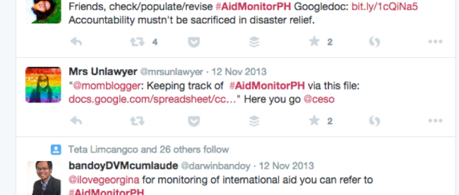 typhoon Yolanda aid monitoring