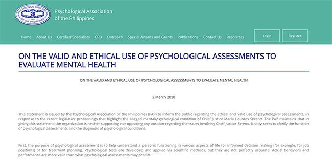 sereno psychological assessments