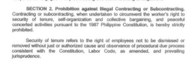 executive order 51 contractualization