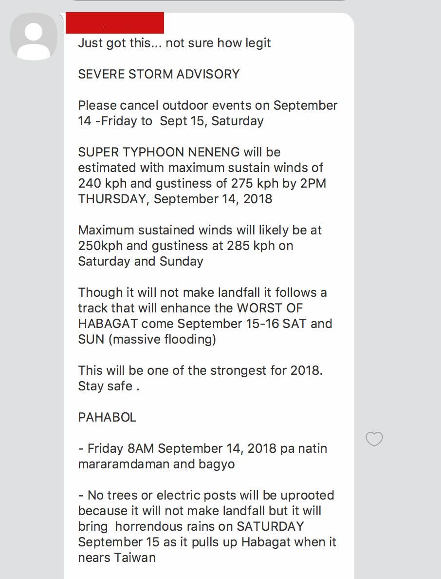 fake news text