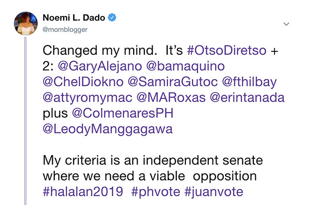 voting for otso diretso plus 2
