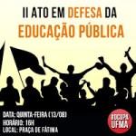 Panfletagem informa sobre a greve na UFMA