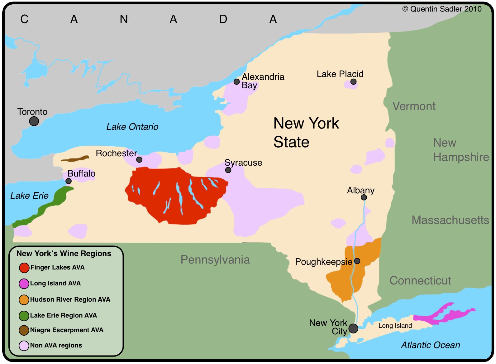 New York State Wine Maps  Wine Seriously
