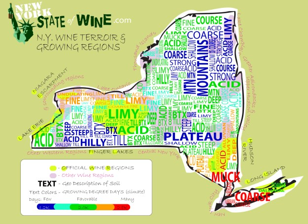 NY Terroir & Growing Regions Map