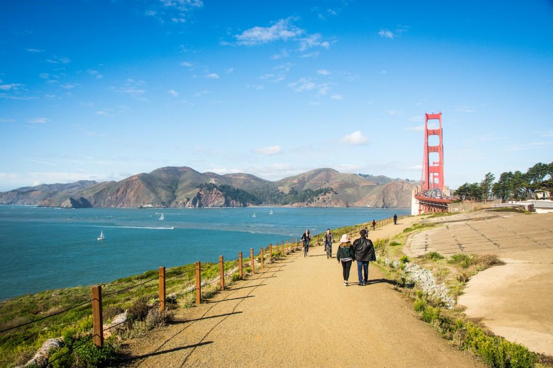 Walking to Golden Gate Bridge