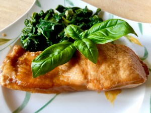 Ryba w sosie sojowym z miodem