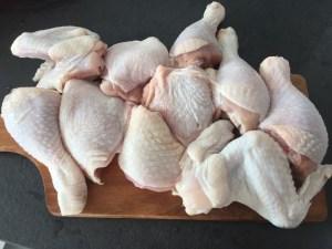 Kurczak przygotowany do dania