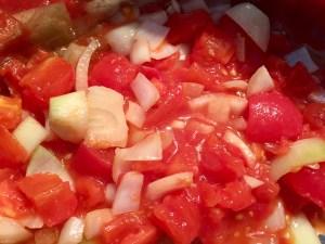 Gotowane pomidory na leczo