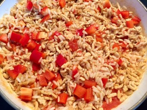 Jednogarnkowy obiad z ryżem i warzywami