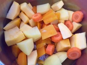 Krojone warzywa do zubpy dyniowej