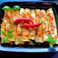 Zapiekane naleśniki a'la burrito