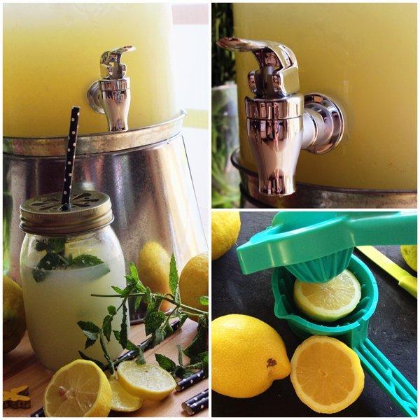 Selbstgemachte Zitronenlimonade