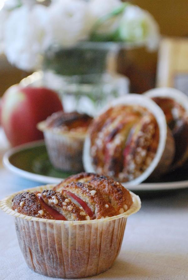 glutenfri muffins äpple kardemumma