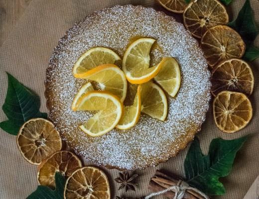 glutenfri saffrans- och mandelkaka