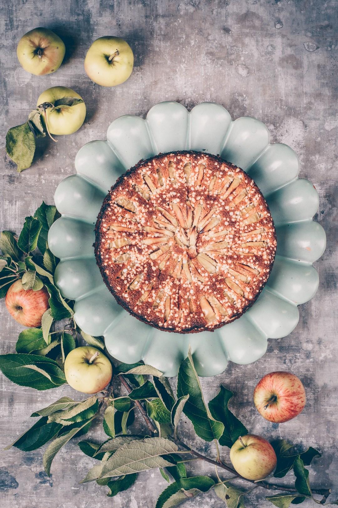 glutenfri äppelkaka