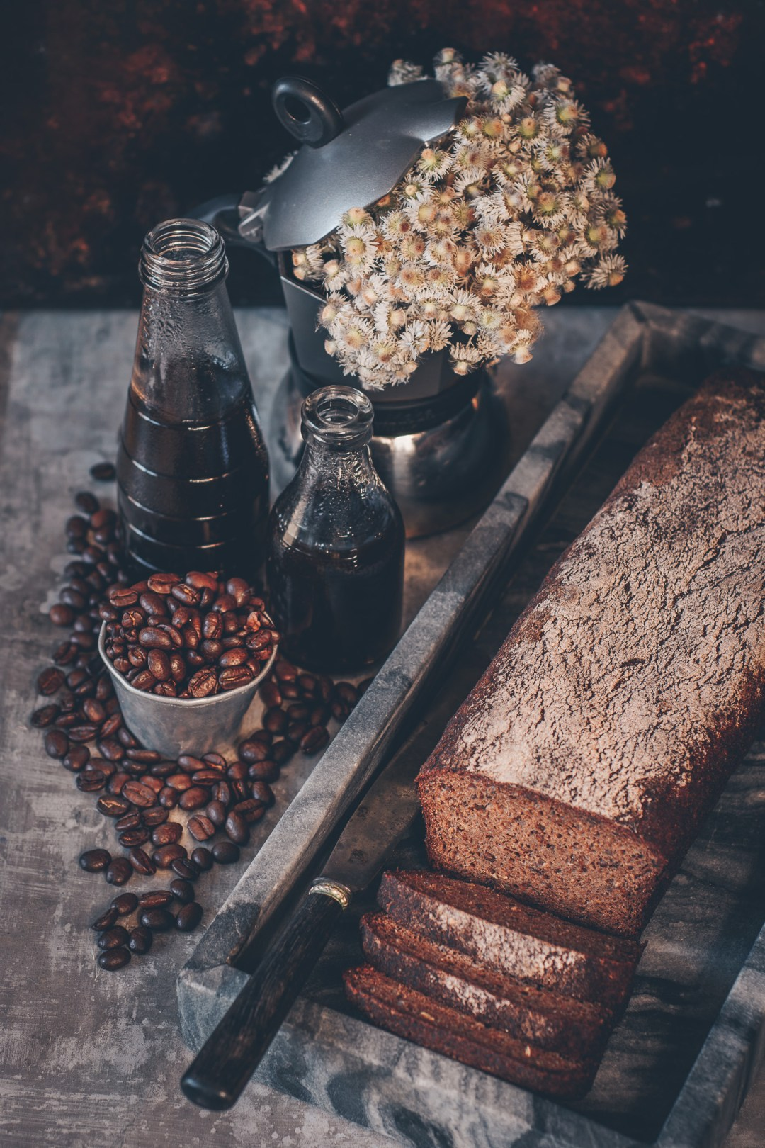 glutenfri kavring med smak av kaffe