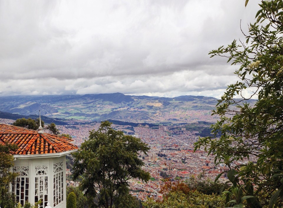 Amazing view of Bogota from Mount Monserrate