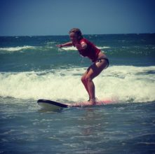 Surfing lessons at Noosa