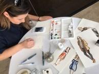 Brisbane-based fashion illustrator Jakomina Vidakovic (@jakominav) working her magic at the EverydayStyle lunch.