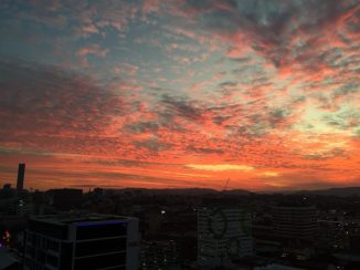 Thursday night's sunset.