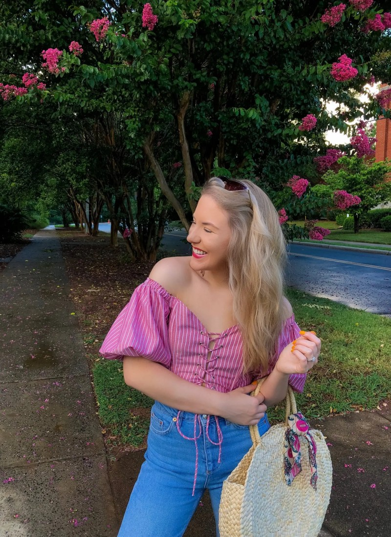 5 off the shoulder tops for summertime date nights