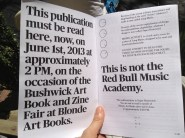 Bushwick Art Book & Zine Fair _ Bf Bifocals02