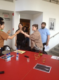 Toast for the final event of Excursus @ ICA, Philadelphia 6/15/13