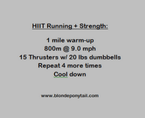 HIIT Sprints & Thruster WOD