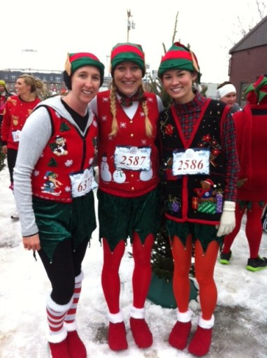 Ugly Sweater 5k_christmas trees and snow