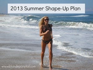 Summer Shape Up Plan: 4 Weeks