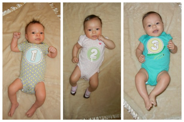 Baby 3 month progression