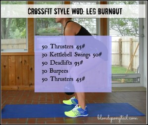 Leg Burnout Workout