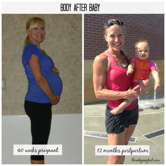 body after baby comparison picture