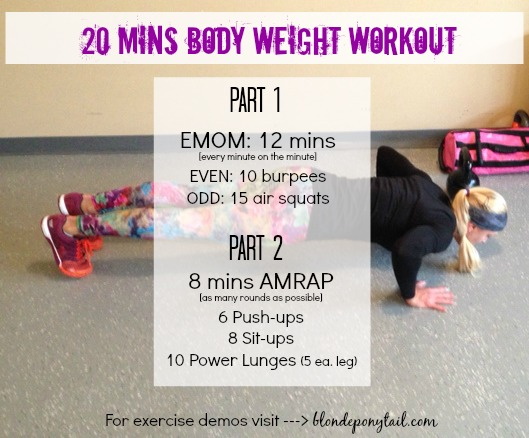 20 mins body weight workout