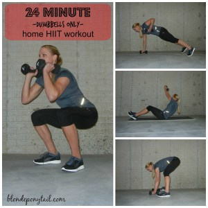 24 Minute Dumbbells Only Home HIIT Workout