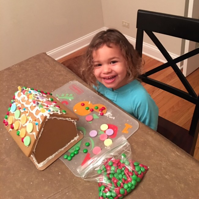 Gingerbread house building_5