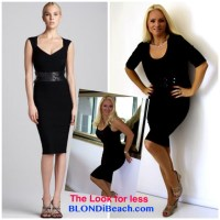 Blondi Look For Less: Edgy Black Cocktail