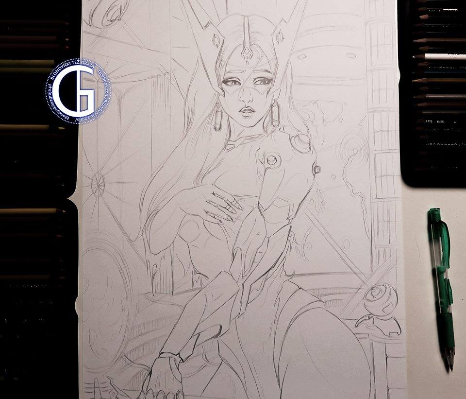 Symmetra drawing by Blondynki Też Grają - League of Legends art