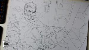 Graves drawing by Blondynki Też Grają - League of Legends art