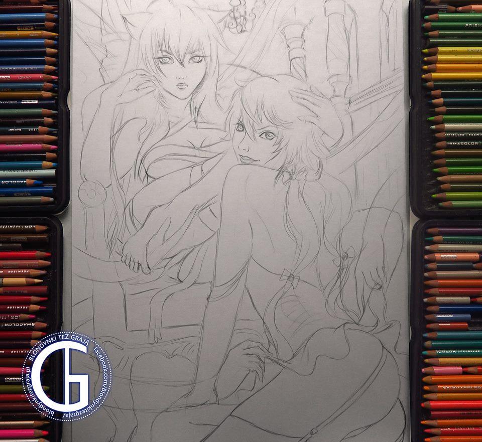 Lucy x Yuno sketch by Blondynki Też Grają - Anime art