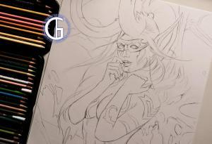 Illidan drawing by Blondynki Też Grają - World of Warcraft art