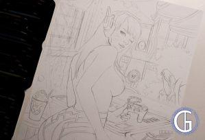 D.Va Overwatch drawing by Blondynki Też Grają