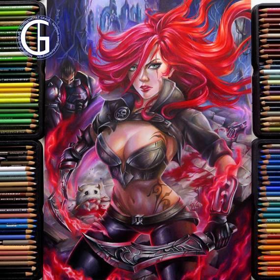 Katarina drawing League of Legends