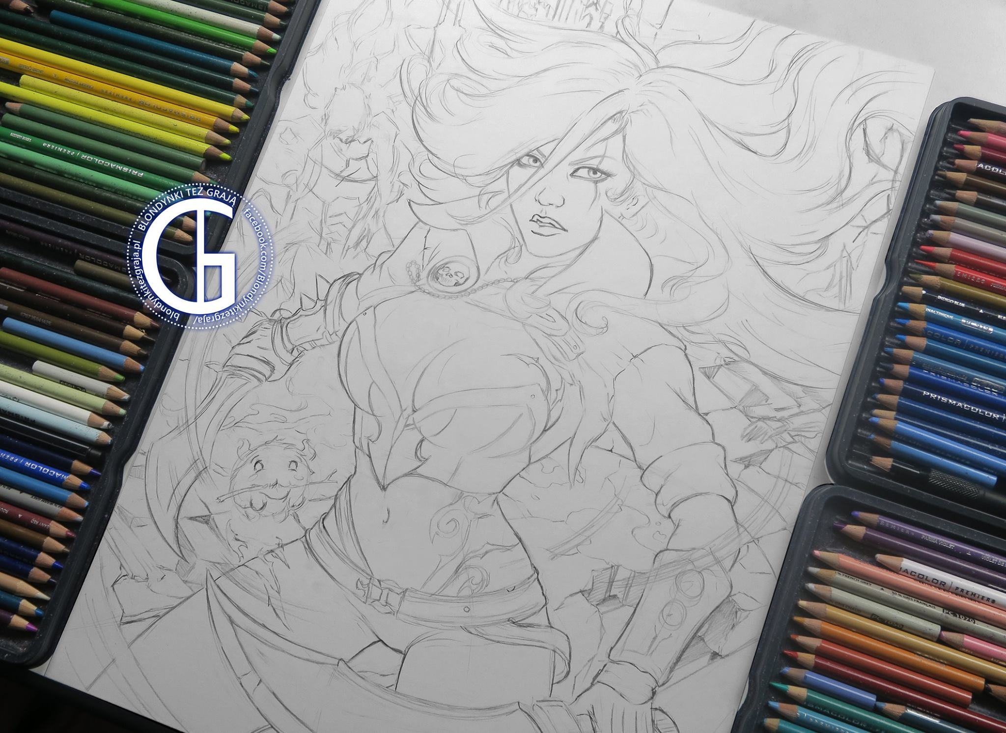 Katarina drawing sketch League of Legends