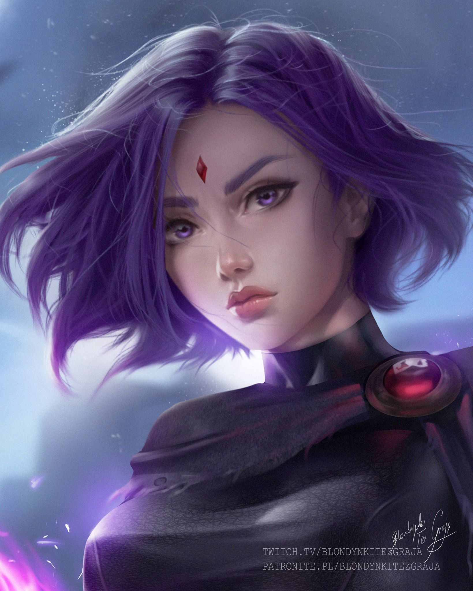 Raven digital art by Blondynkitezgraja